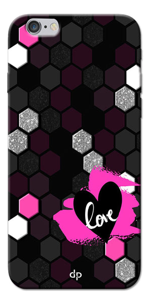 Digiprints Pretty Love Back Case Cover For Apple iPhone 6s