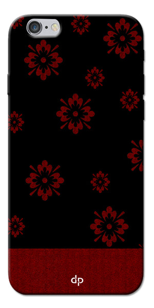 Digiprints Red Flower Pattern Back Case Cover For Apple iPhone 6