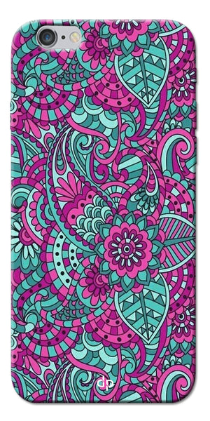 Digiprints Mandala Púrpura  Pattern Back Case Cover For Apple iPhone 6