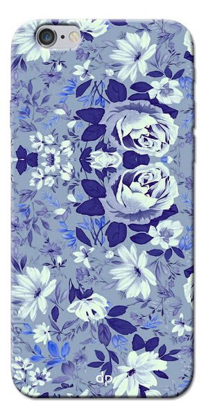 Digiprints Beautiful Blue Flowers Vector Design Back Case Cover For Apple iPhone 6