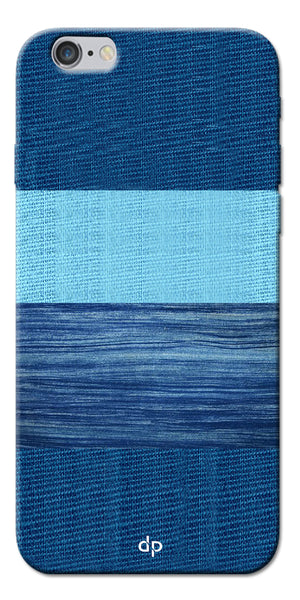 Digiprints Big Blue Denim Pattern Back Case Cover For Apple iPhone 6