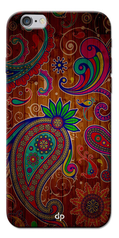 Digiprints Ethnic Wooden Art Back Case For Apple iPhone 6