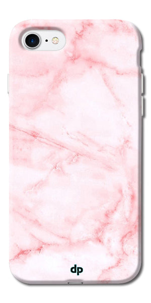 Digiprints Pink textured Marble Design 4 Printed Designer Back Case Cover For Apple iPhone 7
