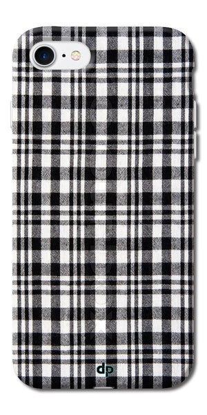 Digiprints Black Checks Printed Designer Back Case Cover For Apple iPhone 7