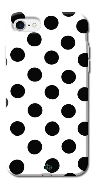 Digiprints Black Polka Dots Printed Back Case Cover For Apple iPhone 7