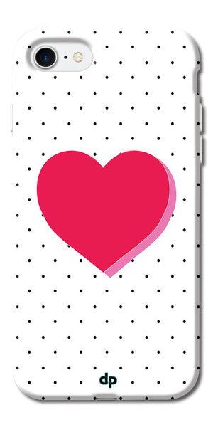 Digiprints Pink Heart Printed Back Case Cover For Apple iPhone 7