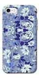 Digiprints Beautiful Blue Flowers Vector Design Back Case Cover For Apple iPhone 7
