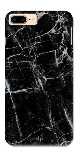 Digiprints Black Marble Design 2 Printed Designer Back Case Cover For Apple iPhone 7 Plus