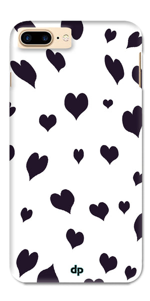 Digiprints Small Heart Printed Designer Back Case Cover For Apple iPhone 7 Plus