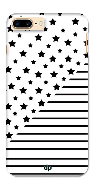 Digiprints Star And Strips On White Printed Back Case Cover For Apple iPhone 7 Plus