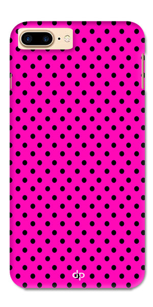 Digiprints Black Dotted Design Pink Printed Back Case Cover For Apple iPhone 7 Plus