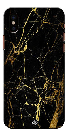 Digiprints Black Marble Design 1 Printed Designer Back Case Cover For Apple iPhone X