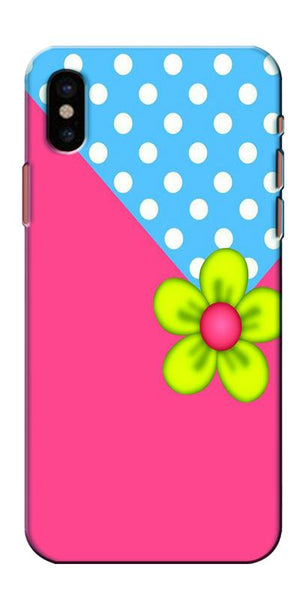 Digiprints Pink Pattern Flower Art Printed Designer Back Case Cover For Apple iPhone X
