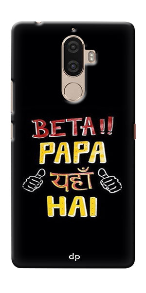 Digiprints Beta Papa Yaha Hai Printed Designer Back Case Cover For Lenovo K8 Plus