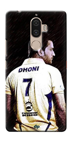 Digiprints Ms Dhoni Art Printed Back Case Cover For Lenovo K8 Plus