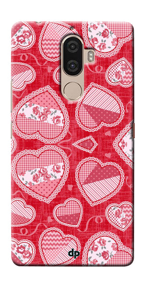 Digiprints Beautiful Pink Heart Design Printed Back Case Cover For Lenovo K8 Plus