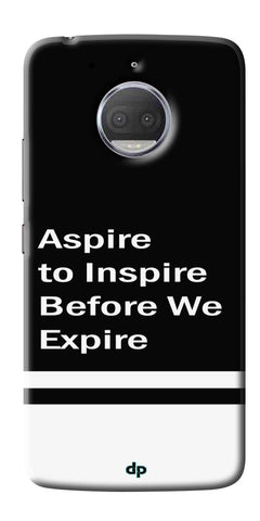 Aspire To Inspire Printed Back Case Cover For Motorola Moto G5S Plus