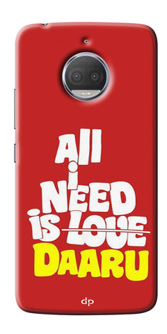 All Need Is Daaru Printed Back Case Cover For Motorola Moto G5S Plus