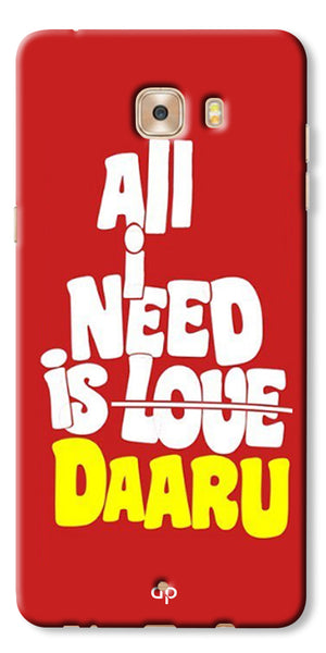 Digiprints All Need Is Daaru Printed Back Case Cover For Samsung Galaxy C7 Pro