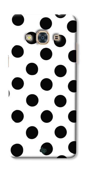 Digiprints Black Polka Dots Printed Back Case Cover For Samsung Galaxy J3 Pro