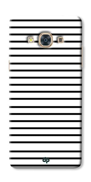 Digiprints Black Horizontal Strips Designer Printed Back Case Cover For Samsung Galaxy J3 Pro
