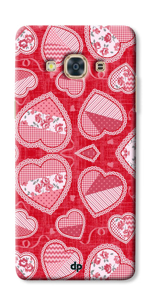 Digiprints Beautiful Pink Heart Design Printed Back Case Cover For Samsung Galaxy J3 Pro