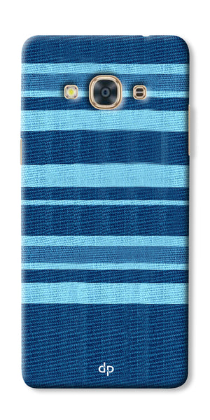 Digiprints Blue Denim Pattern Back Case Cover For Samsung Galaxy J3 Pro