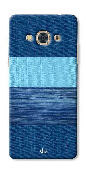 Digiprints Big Blue Denim Pattern Back Case Cover For Samsung Galaxy J3 Pro
