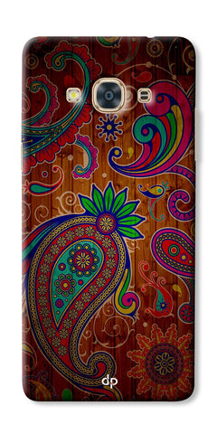 Digiprints Ethnic Wooden Art Back Case For Samsung Galaxy J3 Pro