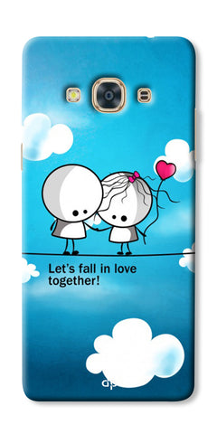 Digiprints Let'S Fall In Love Together Back Case Cover For Samsung Galaxy J3 Pro