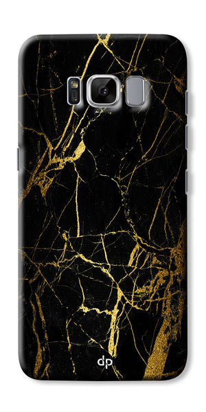 Digiprints Black Marble Design 1 Printed Designer Back Case Cover For Samsung Galaxy S8 Plus