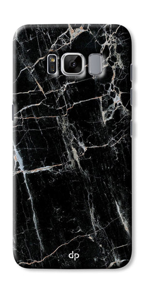 Digiprints Black Marble Design 2 Printed Designer Back Case Cover For Samsung Galaxy S8 Plus