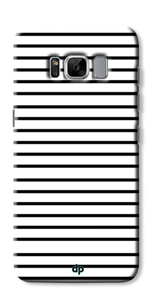 Digiprints Black Horizontal Strips Designer Printed Back Case Cover For Samsung Galaxy S8
