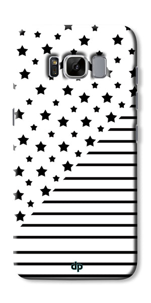 Digiprints Star And Strips On White Printed Back Case Cover For Samsung Galaxy S8 Plus