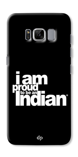 Digiprints I Am Proud To Be An Indian Printed  Back Case Cover For Samsung Galaxy S8 Plus