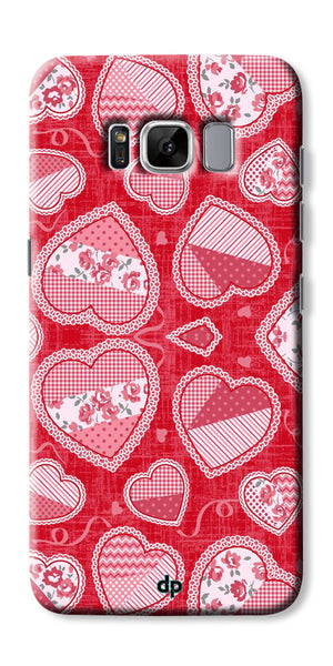Digiprints Beautiful Pink Heart Design Printed Back Case Cover For Samsung Galaxy S8