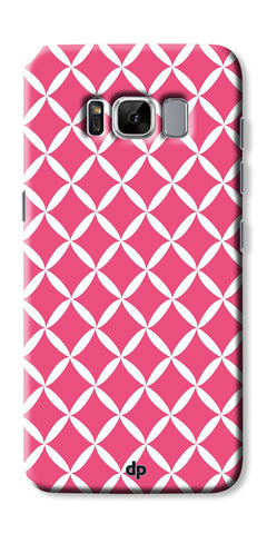 Digiprints Pink Pattern Printed Back Case Cover For Samsung Galaxy S8 Plus