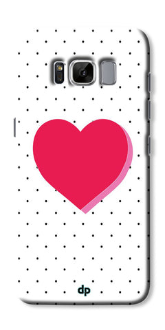Digiprints Pink Heart Printed Back Case Cover For Samsung Galaxy S8 Plus