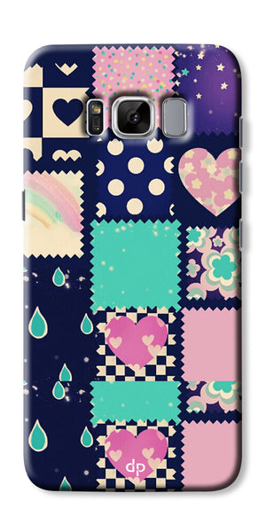 Digiprints Love Mix Pattern Printed Back Cover For Samsung Galaxy S8 Plus