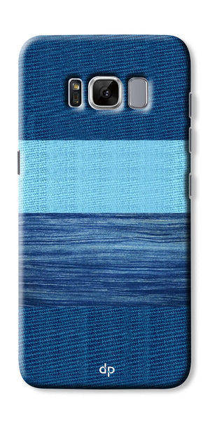 Digiprints Big Blue Denim Pattern Back Case Cover For Samsung Galaxy S8 Plus