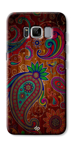 Digiprints Ethnic Wooden Art Back Case For Samsung Galaxy S8 Plus