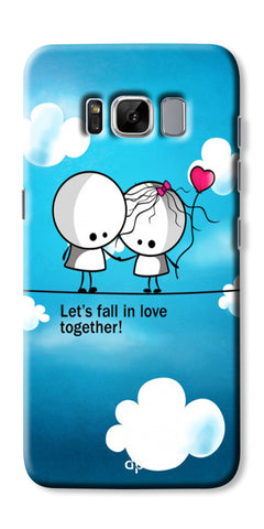 Digiprints Let'S Fall In Love Together Back Case Cover For Samsung Galaxy S8 Plus