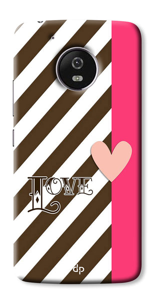 Digiprints Love Heart Printed Back Case Cover For Motorola Moto E4 Plus