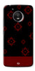 Digiprints Red Flower Pattern Back Case Cover For Motorola Moto E4 Plus