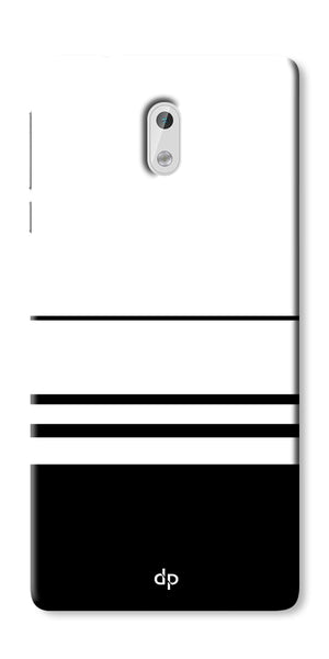 Digiprints Black White Beautiful Pattern Printed Back Case Cover For Nokia 3