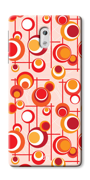Digiprints Beautiful Geometric Patterns Back Case Cover For Nokia 3