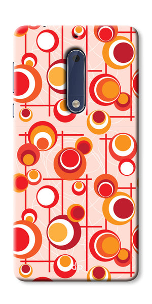 Digiprints Beautiful Geometric Patterns Back Case Cover For Nokia 5