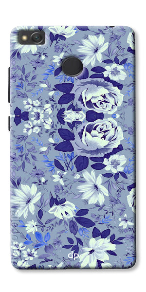 Digiprints Beautiful Blue Flowers Vector Design Back Case Cover For Xiaomi Redmi 4A