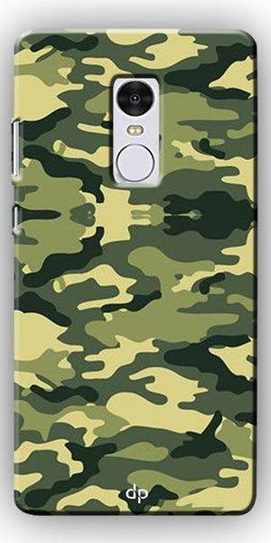 Digiprints Army Pattern Back Case Cover For Xiaomi Redmi Note 4