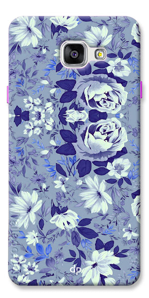Digiprints Beautiful Blue Flowers Vector Design Back Case Cover For Samsung Galaxy A5_2016